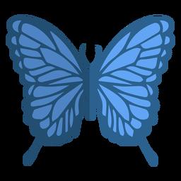 Blauer Schmetterling flach