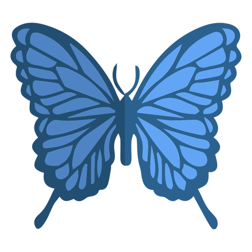 Blue butterfly flat Transparent PNG