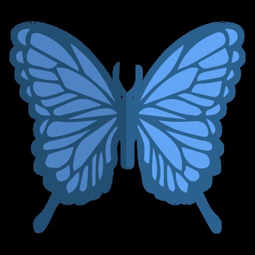 Blue butterfly flat