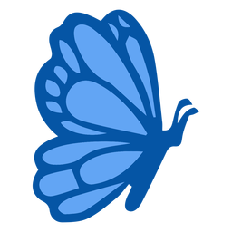 Blue butterfly side flat