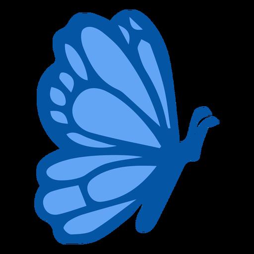 Blue butterfly side flat