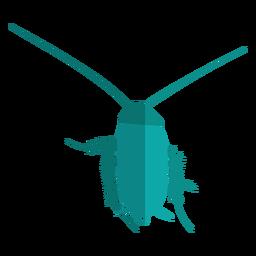 Blue cockroach flat