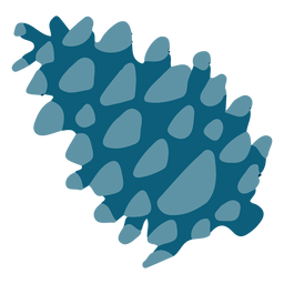 Gimnosperma azul plana
