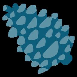 Gimnosperma azul plano