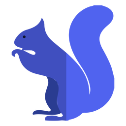 Blue squirrel flat