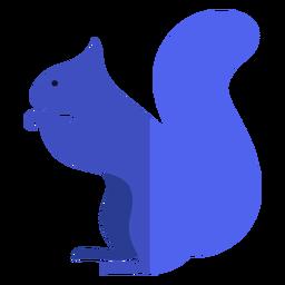 Esquilo azul plano