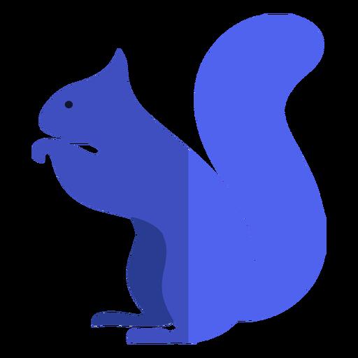 Ardilla azul plana
