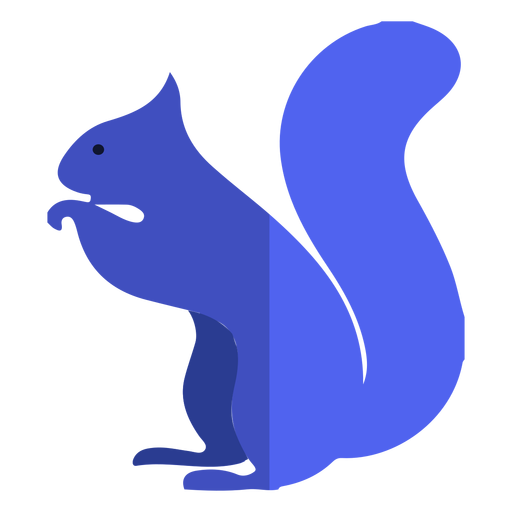Blue squirrel flat Transparent PNG