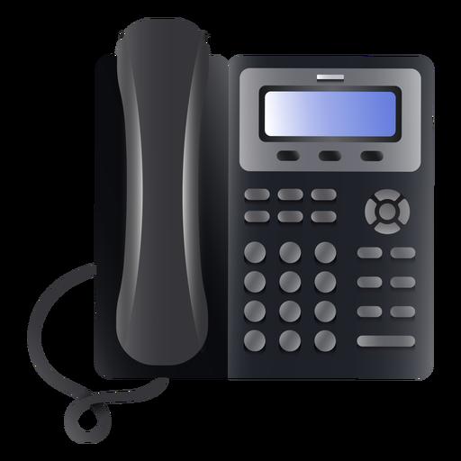 Ilustração de telefone comercial