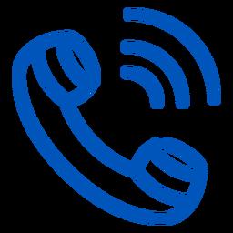 Icono de trazo de llamada
