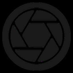 Diafragma de cámara negro