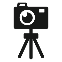 Tripé de câmera preto