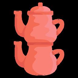 Ilustração de bule de chá Caydanlık