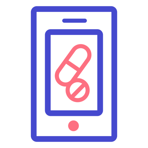 Cellphone pills stroke icon Transparent PNG