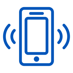 Cellphone ringing stroke icon