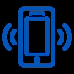 Ícone de toque de celular tocando