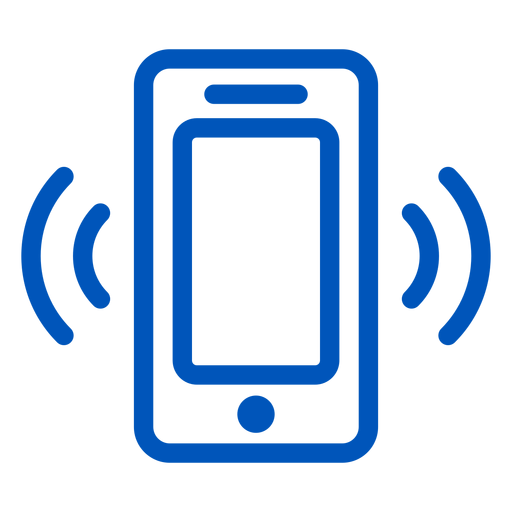 Cellphone ringing stroke icon Transparent PNG