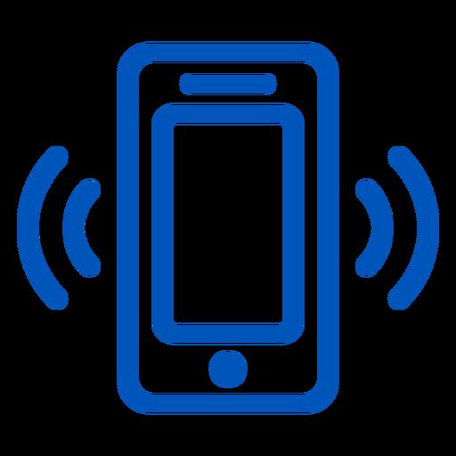 Icono de trazo de llamada de teléfono celular
