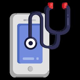 Cellphone stethoscope icon