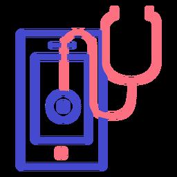 Cellphone stethoscope stroke icon