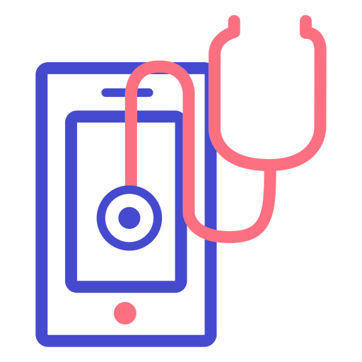 Cellphone stethoscope stroke icon Transparent PNG