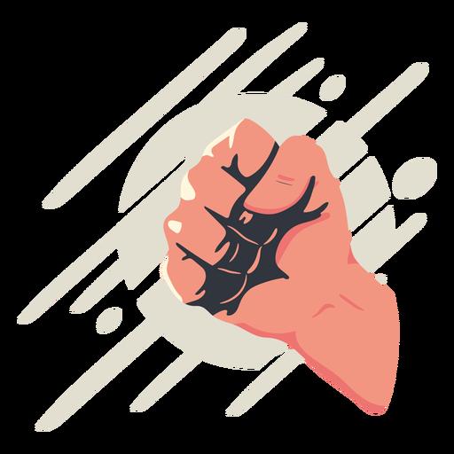Closed fist illustration