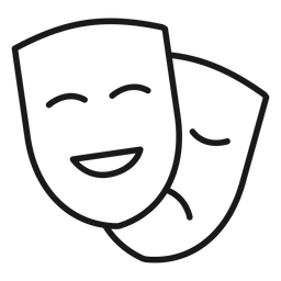 Comedia drama máscaras trazo