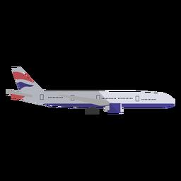 Ilustración de avión comercial