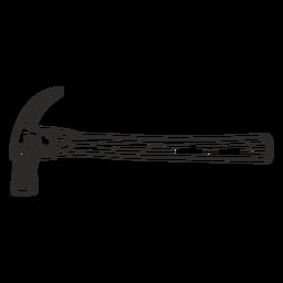 Martillo de construcción dibujado a mano lateral