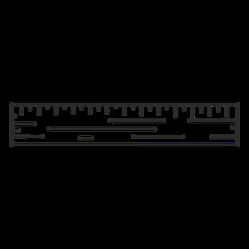 Construction ruler stroke Transparent PNG
