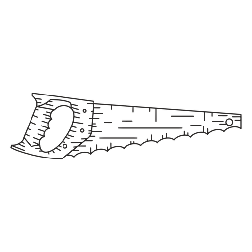 Construction saw hand drawn Transparent PNG