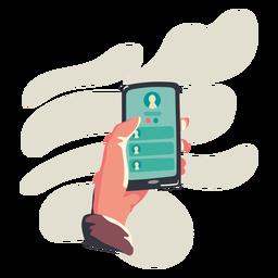 Ilustración del teléfono celular de contacto
