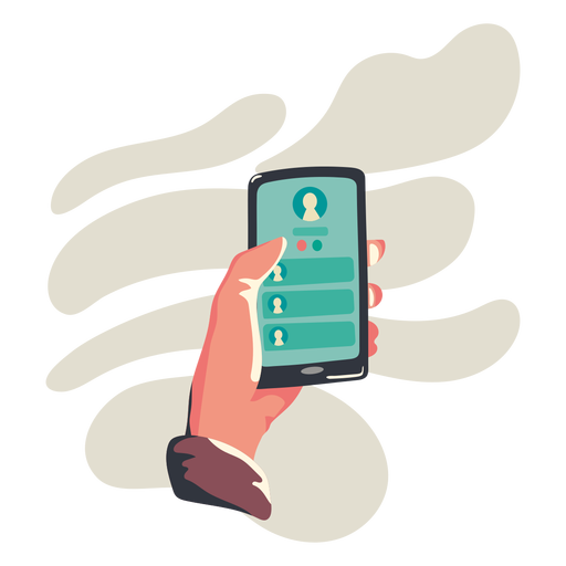 Contact cellphone illustration - Transparent PNG & SVG ...