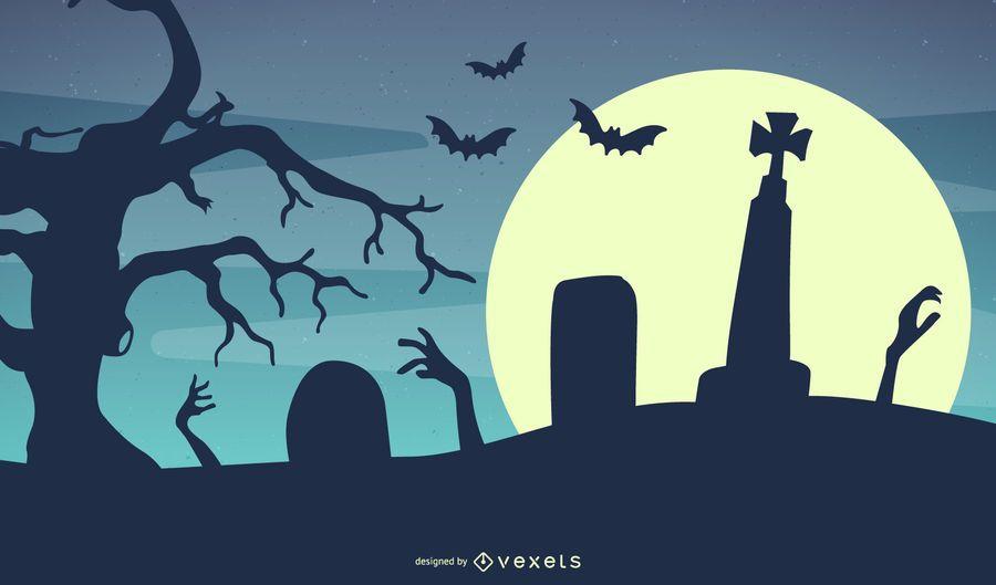 Vector Halloween Template Background