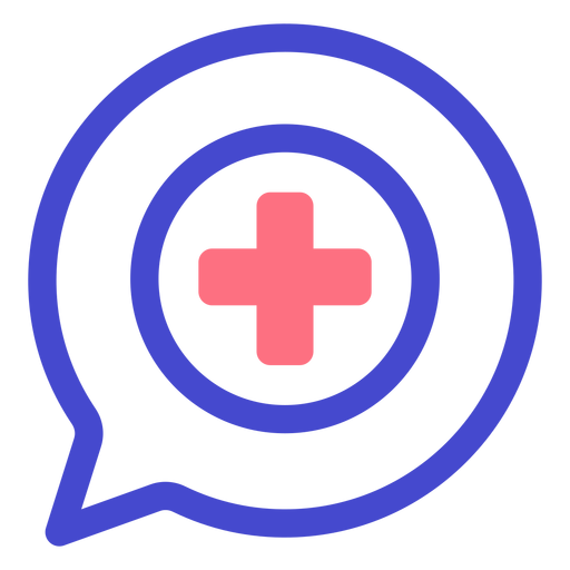 Conversation emergency stroke icon