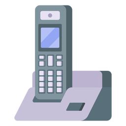 Cordless telephone illustration