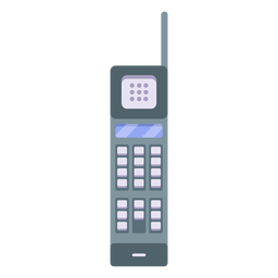 Cordless telephone tube illustration
