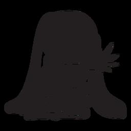 Coelhinha atrás de preto