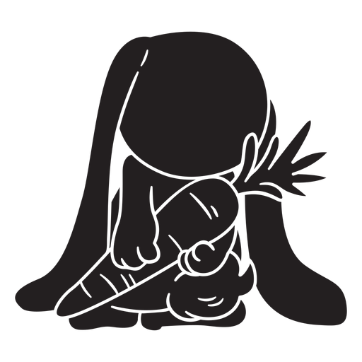 Cute bunny behind black