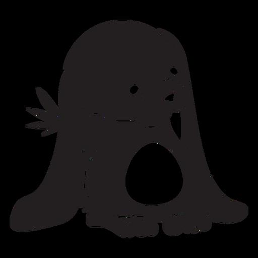 Lindo conejito escondiendo zanahoria negro