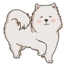 Cute happy dog illustration