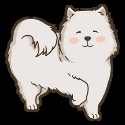 Ilustração de cachorro feliz bonito