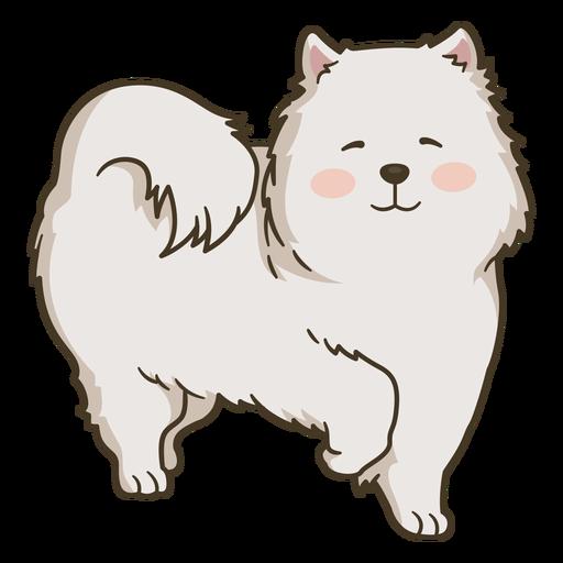 Ilustração de cachorro fofo e feliz