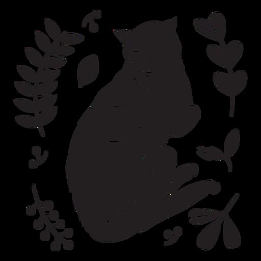 Cute sleeping cat black