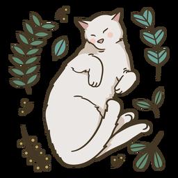 Ilustração de gato fofo dormindo