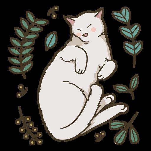 Cute sleeping cat illustration
