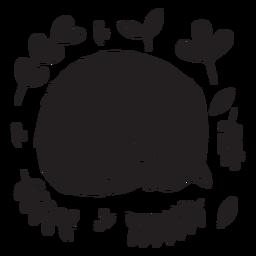 Cute sleeping kitten black