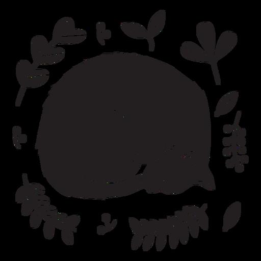 Download Cute sleeping kitten black - Transparent PNG & SVG vector file