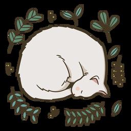 Cute sleeping kitten illustration