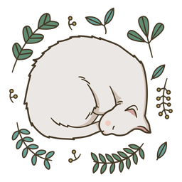 Ilustración de lindo gatito durmiendo